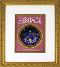 Framed cover of Pennsylvania Heritage magazine for contributing to article on Capitol artist Edwin Austin Abbey, Summer 2006