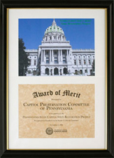 Capitol Steps Restoration Project Award presented by the International Concrete Repair Institute, September 2005