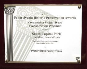 PA Historic Preservation – 2013 Construction Project Award for Special Historic Properties – September 27, 2013