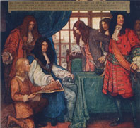 KING CHARLES II SIGNS THE CHARTER OF PENNSYLVANIA, 1681