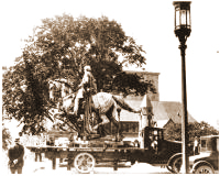 MOVING THE HARTRANFT STATUE, 1927
