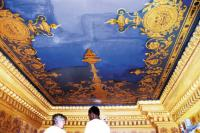 CONSERVATION CLEANING OF DECORATIVE CEILING