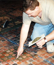 Moravian Tile Floor Maintenance