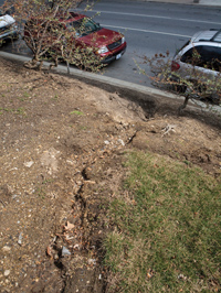 ERODED BANK DUE TO STORMWATER RUNOFF